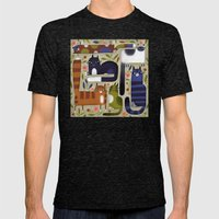 FIELD OF CATS Mens Fitted Tee Tri-Black SMALL