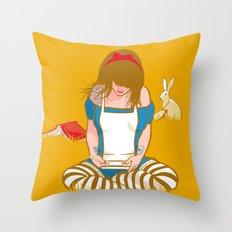 Alice in Mario Land Throw Pillow
