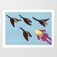 Flying V Art Print