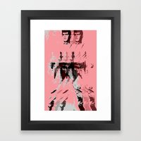 FPJ Pastel Peach Framed Art Print