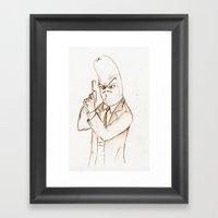 Hotdog Detective  Framed Art Print