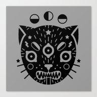 BLACK CAT Canvas Print