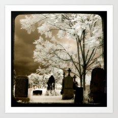 Secret Graveyard Art Print