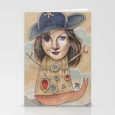 PIRATE ROBOT MERMAID Stationery Cards