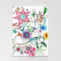 Gipsy garden - hand drawn Stationery Cards