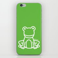 Green Frog iPhone & iPod Skin