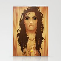 native american Stationery Cards featuring Native American by Kimball Gray
