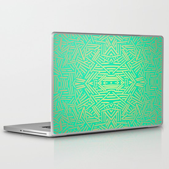 Radiate (Yellow/Ochre Teal- non metallic) Laptop & iPad Skin