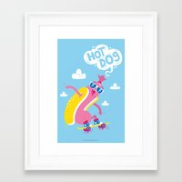 Hot Dog! Framed Art Print
