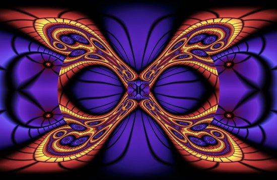 Hyper Butterfly Art Print