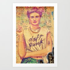 daft punk & frida Art Print