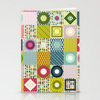 leaf squares Stationery Cards