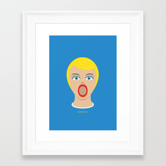 Blow Up Pin Up Framed Art Print