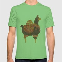 The Lovely Llama Mens Fitted Tee Grass SMALL