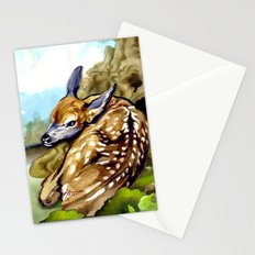 Fawn Parked in the Trees Stationery Cards