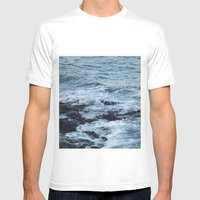 Stormy Waters Mens Fitted Tee White SMALL