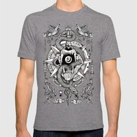 Ad Mortumn Mens Fitted Tee Tri-Grey SMALL