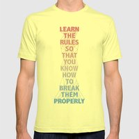 Life Lesson #5 Mens Fitted Tee Lemon SMALL