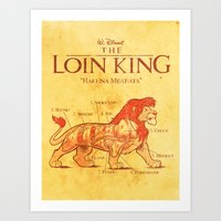 THE LOIN KING Art Print