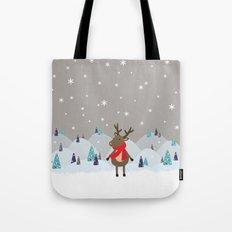 Christmas Deer Tote Bag