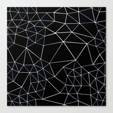 Segment Zoom Black and White Canvas Print