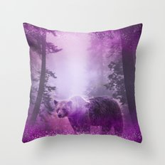 Fairy bear out of the woods Throw Pillow