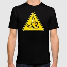 Hazardous roads Black SMALL Mens Fitted Tee