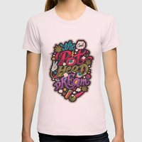 The Cool Pothead Dream Womens Fitted Tee Light Pink SMALL