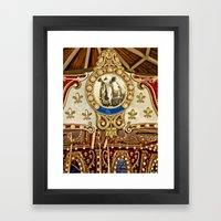 Rhinocerous Carousel At … Framed Art Print