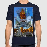 SUNCITY REMIX2 ~ SMS    Mens Fitted Tee Navy SMALL