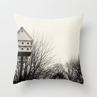 winter at the lake I Throw Pillow