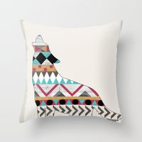 Wild Soul - Aztec Navajo… Throw Pillow