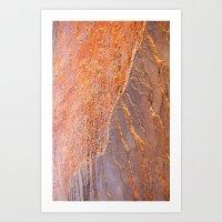 Travertine - orange Art Print