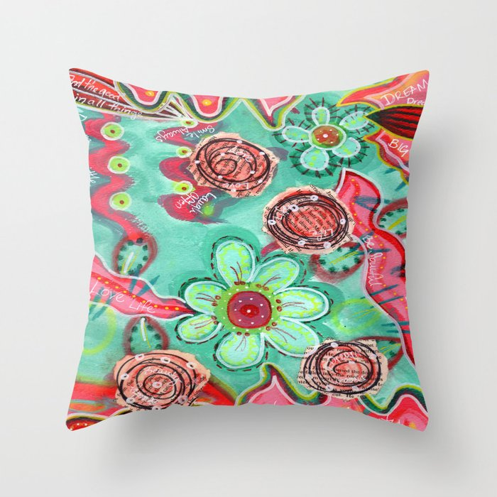 Doodle Background Throw Pillow by Julie M Studios Society6