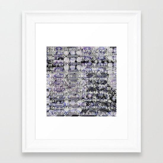 Post-Digital Tendencies Emerge (P/D3 Glitch Collage Studies) Framed Art Print