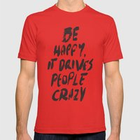 Happy Mens Fitted Tee Red SMALL