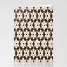 Sepia Beige Flower Geometrics Stationery Cards