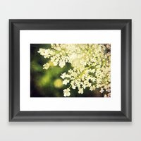 Sunshine White Framed Art Print