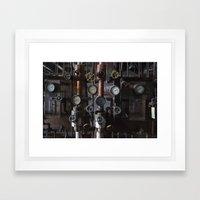 Knobs Framed Art Print