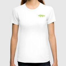 Crocodile Tears Womens Fitted Tee White SMALL