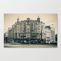 Postcard From Warsaw 2 Canvas Print