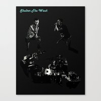 Shelter The Weak Band Canvas Print