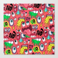 Gross Pattern Canvas Print
