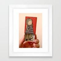 Matchbox Lady and Pug Framed Art Print