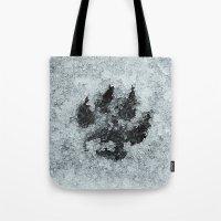Printed In Snow Tote Bag