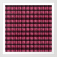 Pink Plaid [One] Art Print