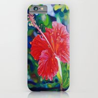 iPhone & iPod Case featuring Tropical Hibiscus by Morgan Ralston