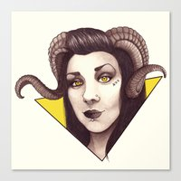 Id - The Devil is a Woman Canvas Print