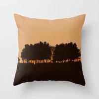 Harvey's Neck Sunset Throw Pillow