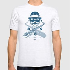 Duke Silver Ash Grey SMALL Mens Fitted Tee